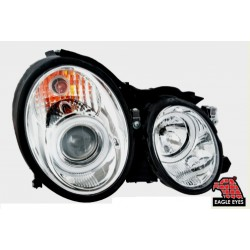 EAGLE EYES Chrome Housing Projector Head Lamp: BENZ W208 '97-'02 [HL-027-BENZ]