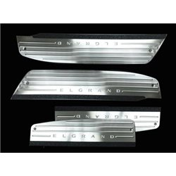 NISSAN ELGRAND E51 2002 - 2010 Stainless Steel LED Door Side Sill Step Scruff Plate