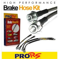 Hyundai Sonata NF 2.4L (5th Gen) 2004 - 2010 PRO-RS Front & Rear Stainless Steel Braided Brake Hose
