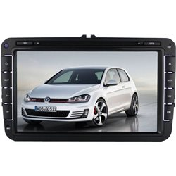 "MOST VOLKSWAGEN DLAA 8"" Full HD Double Din GPS DVD DIVX VCD MP3 CD USB SD Bluetooth TV Player Free Camera & TV Antenna [DA-VW]"