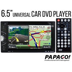 "SKY AUDIO 6.5"" Full HD Double Din DVD VCD MP3 CD USB SD Bluetooth TV Player with GPS Navigation System [J-6219N]"