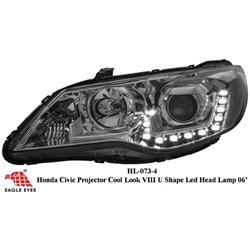 HONDA CIVIC FD 2006 - 2011 EAGLE EYES U-Concept DRL Day Light LED Projector Head Lamp [HL-073-4]