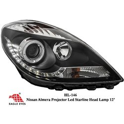 NISSAN ALMERA 2012 - 2015 EAGLE EYES CCFE Straline LED Projector Head Lamp [HL-146]