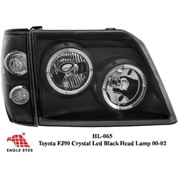 TOYOTA PRADO FJ90 1990 - 2002 EAGLE EYES BLACK CCFL LED Head Lamp + Corner Lamp [HL-065]