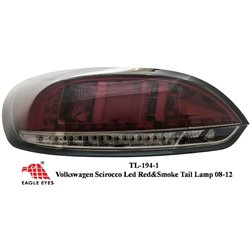 VOLKSWAGEN SCIROCCO 2008 - 2016 EAGLE EYES Smoke Red LED Tail Lamp [TL-194-1]