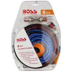 BOSS AUDIO 8GA Speaker Wire RCA Car Amplifier Installation Kit
