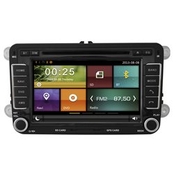 "MOST VOLKSWAGEN DYNAVIN 8"" Double Din Android Mirror Link GPS DVD CD USB SD BT TV Player FREE Rear Camera + TV Antenna"