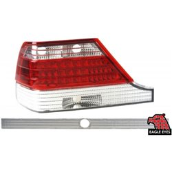 MERCEDES BENZ W140 S-Class 1994 - 1998 EAGLE EYES Red Clear with Clear Granish LED Tail Lamp [TL-017-BENZ-1]