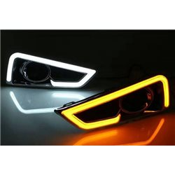 HONDA CITY GM6 2014 - 2016 3 in 1 A-Concept Light Bar LED Day Time Running Light DRL + Signal + Auto On Fog Lamp Cover