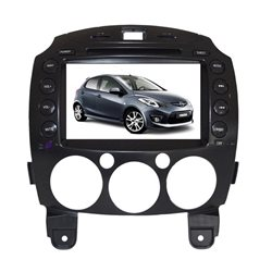 "MAZDA 2 DE 2007 - 2014 DLAA 8"" Full HD Double Din GPS DVD CD USB SD BLUETOOTH TV Player FREE Rear Camera + TV Antenna"