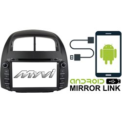 "PERODUA MYVI 2005 - 2010 DLAA 8"" Android Mirror Link Double Din DVD MP3 CD USB SD BT TV Player Free Camera & TV Antenna"