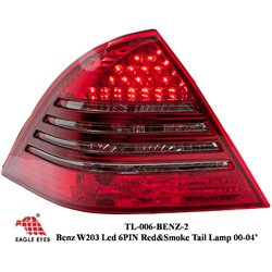 MERCEDES BENZ W203 C-Class 2000 - 2004 EAGLE EYES Red/ Smoke LED Tail Lamp [TL-006-BENZ-2]