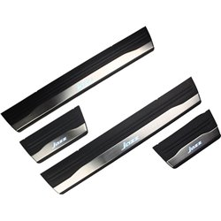 HONDA JAZZ GK 2014 - 2017 OEM Plug & Play Stainless Steel White LED Door Side Sill Step Plate Made In Taiwan