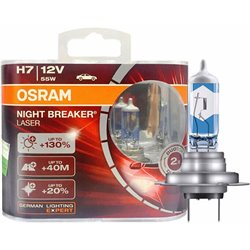 GENUINE OSRAM Night Breaker Laser H4 H7 +130% Super Bright Car Halogen Bulb Made In Germany [1 Pair]
