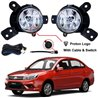 PROTON SAGA 2016 SAXO OEM Plug & Play Fog Lamp Spot Light with Bulb, Full Wiring Kit & On/Off Switch Mada In Malaysia [PR54]