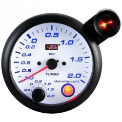AUTOGAUGE 95mm Blue Racer (White Face) Boost Meter[197]