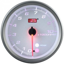 AUTOGAUGE 80mm Amber, White and Blue (White Face) RPM Tachometer [565 ]