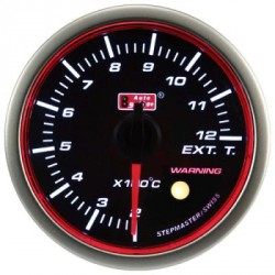 Autogauge 60mm Super White LED Angel Ring (Black Face) Exhaust Temp Meter [659]