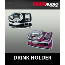 DAD GARSON Style VIP Diamond Pink, White, Black Carbon Fiber Cup & Phone Holder [BK33]