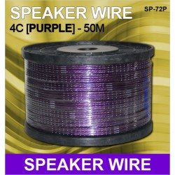 HIGH QUALITY 50 Meter PURPLE 4C Thick Speaker Wire/Cable [SP-72P]