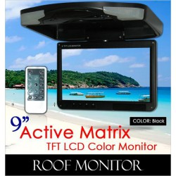 "ACTIVE MATRIX 9"" Digital HD Quality Black Color TFT Roof Monitor [9004 Black]"