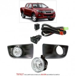 ISUZU D-MAX/ CHEVROLET COLORADO 2012 - 2015: TRIO Super Bright OEM Fog Lamp Spot Light with Bulb, Full Wirring Kit [T87627]