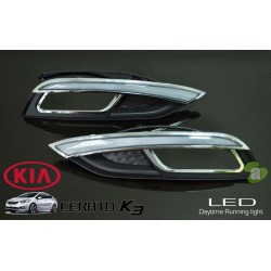KIA CERATO K3 2013 - 2015 3 in 1 Light Bar LED Day Time Running Light DRL + Auto Dimmer + Auto On Fog Lamp Cover 1