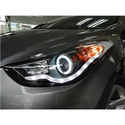 HYUNDAI ELANTRA MD 2011 - 2015 EAGLE EYES Starline DRL CCFL Projector Head Lamp [HL-139-1]
