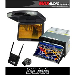 "DLAA DA-686G 7"" Motorized Double Din GPS DVD CD USB SD BLUETOOTH TV Player FREE Rear Camera + TV Antenna + 9"" Roof Monitor"