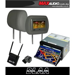 "DLAA DA-686G 7"" Motorized Double Din GPS DVD CD USB SD BLUETOOTH TV Player FREE Rear Camera + TV Antenna + Headrest Monitor"