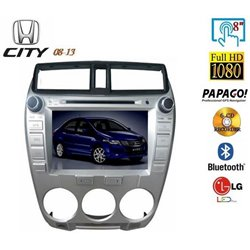 "HONDA CITY 2009 - 2013 8"" Full HD Double Din DVD DIVX VCD MP3 CD USB SD Bluetooth TV Player Free Camera & TV Antenna"