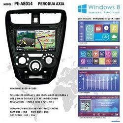 "PERODUA AXIA 8"" Full HD Double Din GPS DVD DIVX VCD MP3 CD USB SD Bluetooth TV Player Free Camera & TV Antenna"