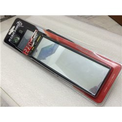 STAR FORT 27cm Anti-Glare 3D Wide Angle Rear Mirror with Clock & Compass