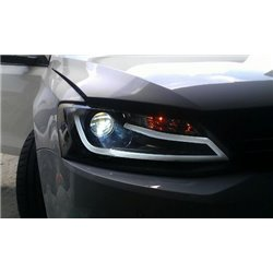 VOLKSWAGEN JETTA 2011 - 2015: EAGLE EYES A-Concept LED Light Bar DRL Daylight Projector Head Lamp [HL-151]