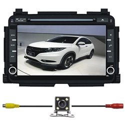 "HONDA HRV/ VEZEL/ XRV DLAA 8"" Full HD Double Din GPS DVD DIVX VCD MP3 CD USB SD Bluetooth TV Player Free Camera & TV Antenna"