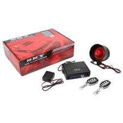 SKY 4-Button Full Set Multi Function Car Alarm System with Shock Sensor and Siren Made in Korea [333-686-157]