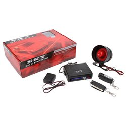 SKY In-Built Key Full Set Multi Function Car Alarm System with Shock Sensor and Siren Made in Korea [333-686-44]