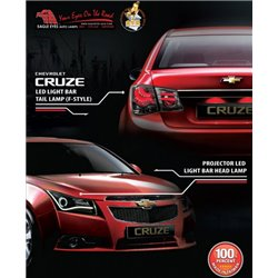 CHEVROLET CRUZE 2008 - 2015: EAGLE EYES Projector Head Lamp and LED Tail Lamp