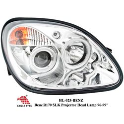 MERCEDES BENZ R170 SLK 1996 - 1999 EAGLE EYES Chrome Projector Head Lamp [HL-025-BENZ]