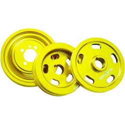 MOST CARS ZERONE T6 Aluminum Billet Racing Crank Pulley (More Power, More Fuel Saving)