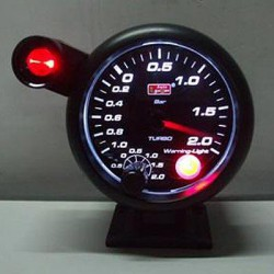 AUTOGAUGE 95mm Super White (Black Face) Boost Meter [204]