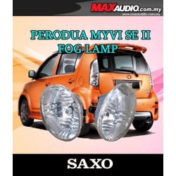 SAXO Fog Lamp Spot Light: PERODUA MYVI SE2 Made in Korea [PD01]