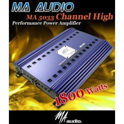 ORIGINAL MA AUDIO U.S.A MA-503 3 Channel Stereo Subwoofer Amplifier Made in USA
