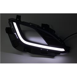 HYUNDAI ELANTRA MD FL 2015 - 2016 Fog Lamp Cover with LED Light Bar Day Time Running Light DRL