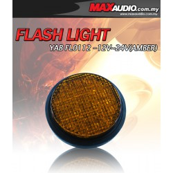 YAB FL0112 12V/ 24V LED Yellow Amber Warning Flash Light for LORY/ CAR