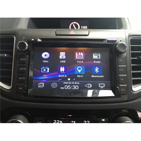 "HONDA CRV 2013 - 2016 DLAA 8"" Full HD LED Double Din GPS DVD DIVX VCD MP3 CD USB SD IPOD BLUETOOTH TV Player"