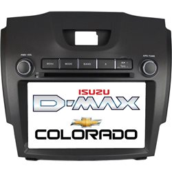"CHEVROLET COLORADO/ ISUZU D-MAX 2012 - 2016 DLAA 8"" Full HD Double Din GPS DVD VCD MP3 CD USB SD Bluetooth TV Player Free Camera"
