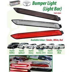 TOYOTA VELLFIRE, ALPHARD ANH20, CAMRY 2007, HARRIER 2014 - 2016, INNOVA, WISH  Rear Bumper Reflective LED Light Bar with Signal