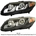 HONDA CIVIC FB 2012 - 2015 EAGLE EYES U-Concept Daylight Projector Head Lamp [HL-145]