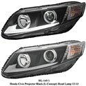 HONDA CIVIC FB 2012 - 2015 EAGLE EYES L-Concept Projector Head Lamp [HL-145-1]